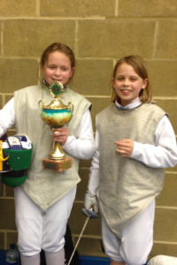 Medal wiiners in Girls U12 Kent Foil Comp 2015
